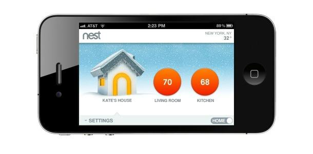 image of the Nest Thermostat app