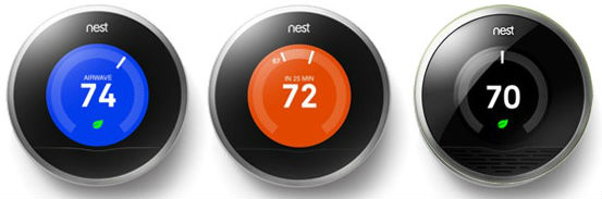 "Diffrent model Designs of the ""NestLearning Thermostat 2ndGeneration T2005771"""