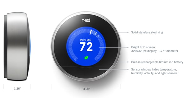 Nest Learning Thermostat – 2nd Generation T200577 specs