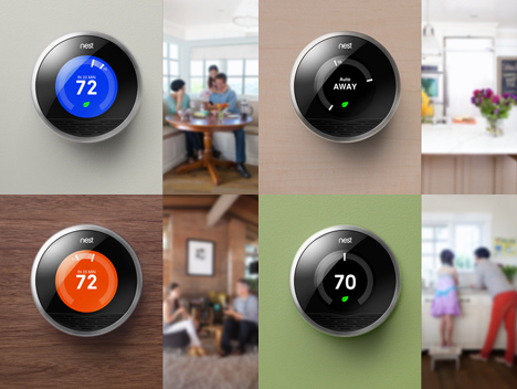 diffrent nest thermostat design models